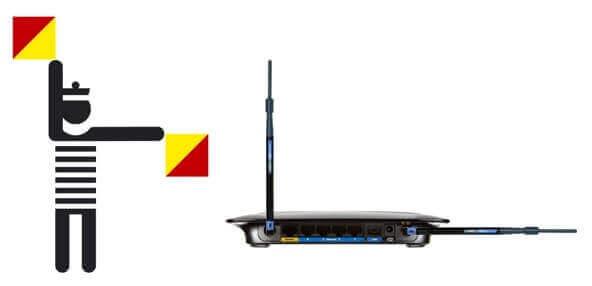 wifi antenna facing up