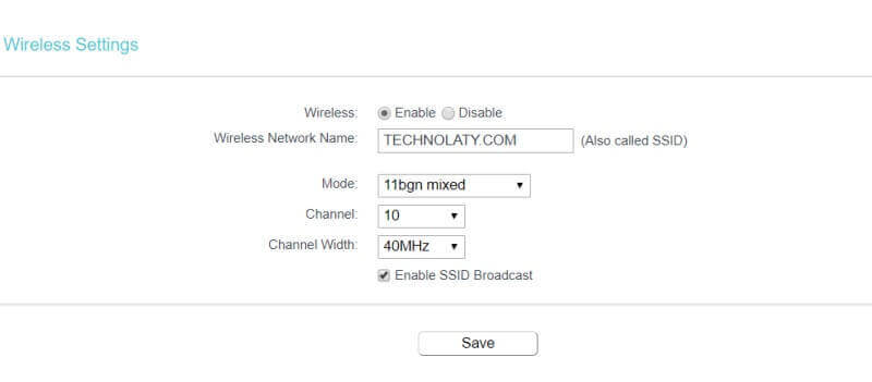 TP Link WiFi Router Channel Settings