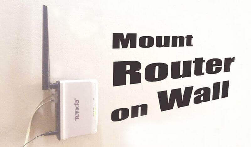 Boost Wifi Router Signal Mounting on the Wall