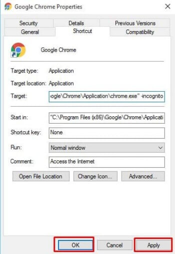 Always open chrome in incognito mode
