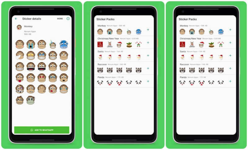 whatsapp animal stickers app