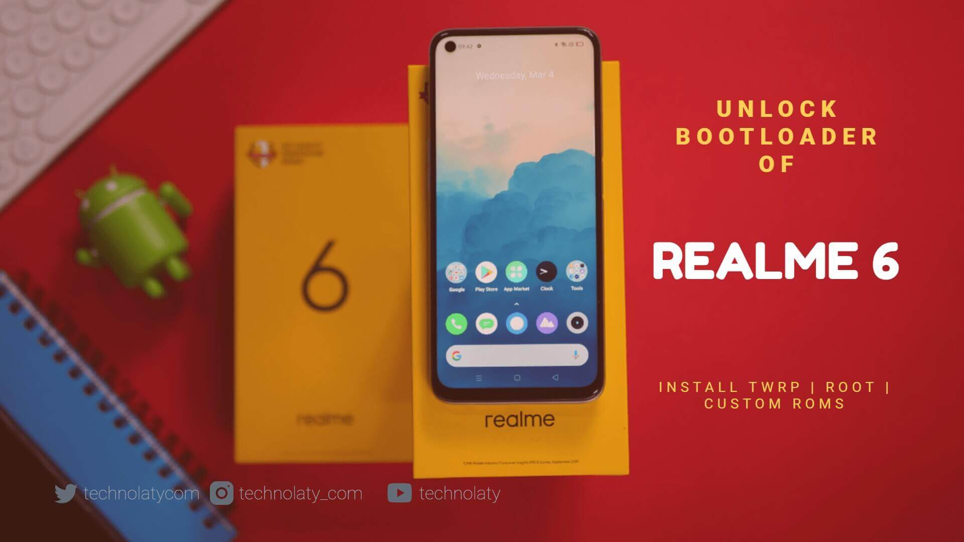 Realme 6 Bootloader Unlocking Guide