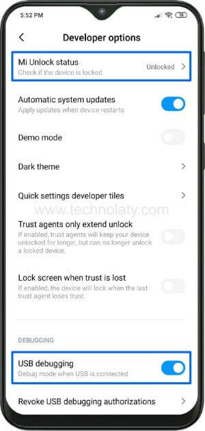 OEM Unlock in Xiaomi Device