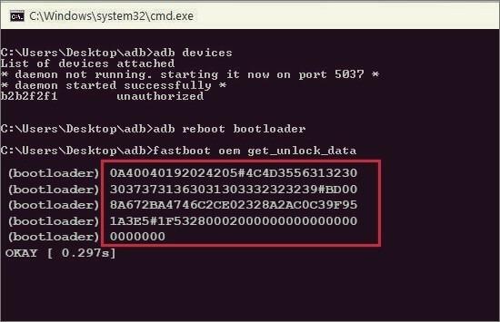 Motorola Fastboot OEM Unlock