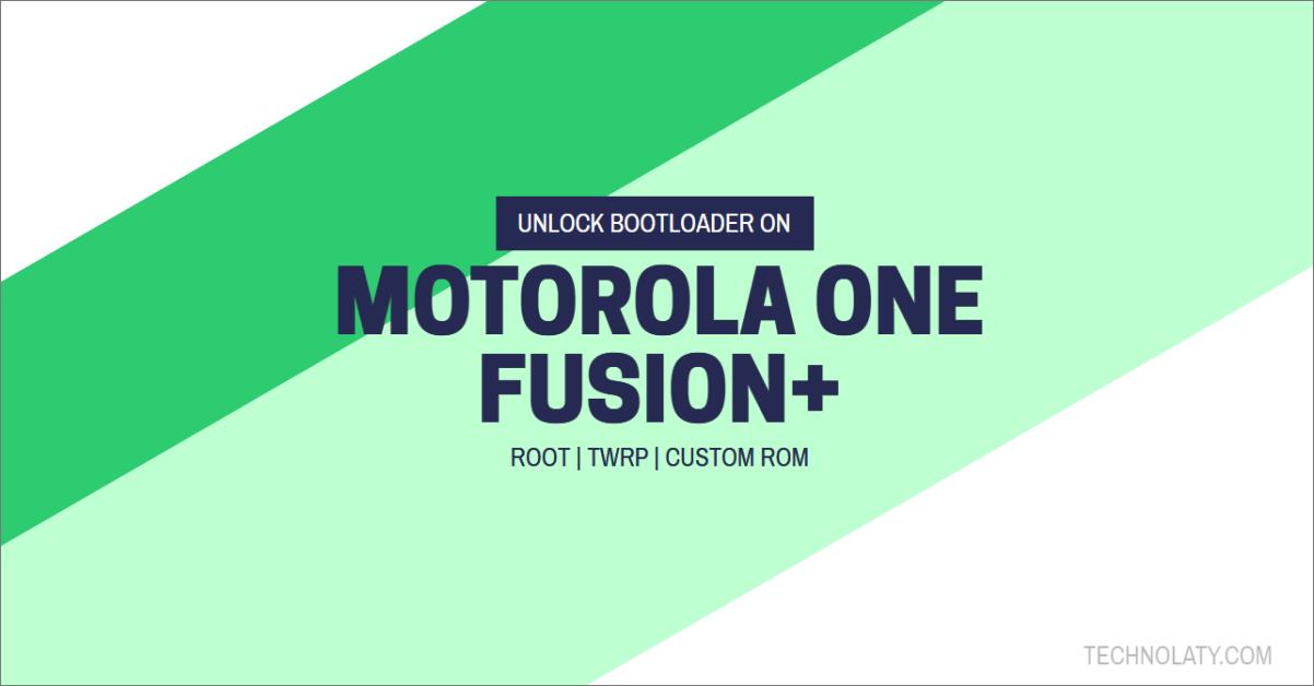 Motorola One Fusion Bootloader Unlocking Guide