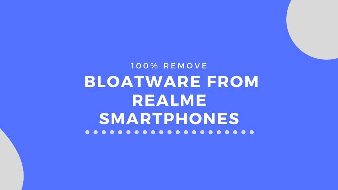 Uninstall unwanted apps from realme