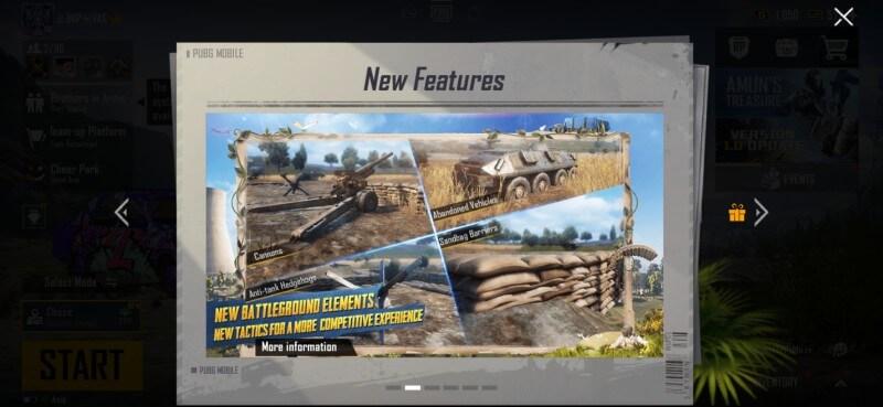 New PUBGM 1.0 Features