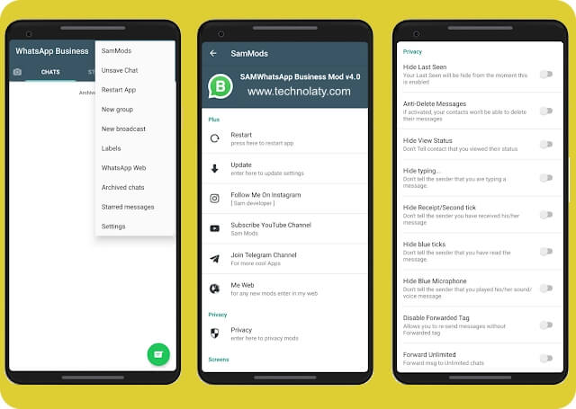 WhatsApp Business Mod By SAM