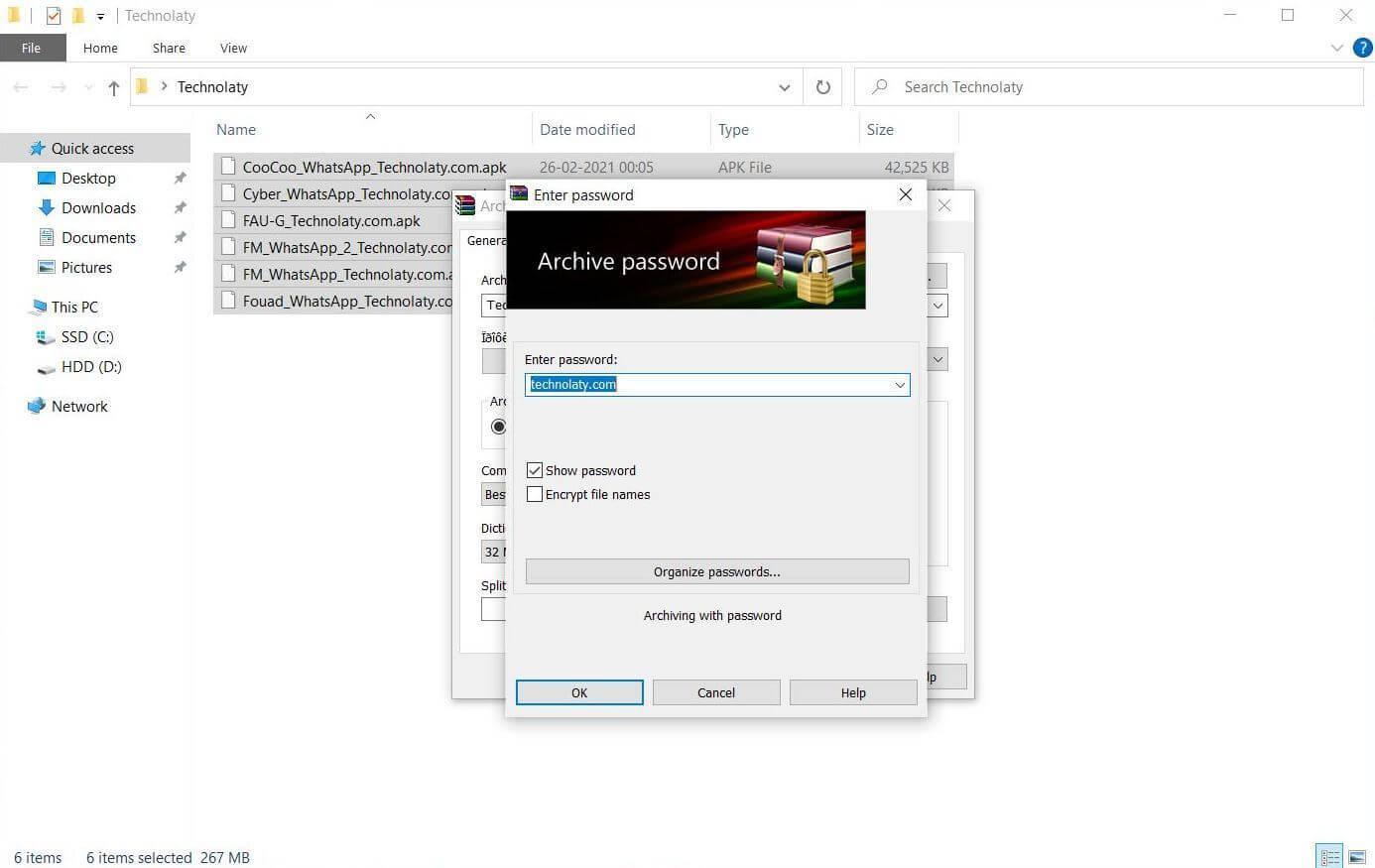 Create Password-Protected Zip