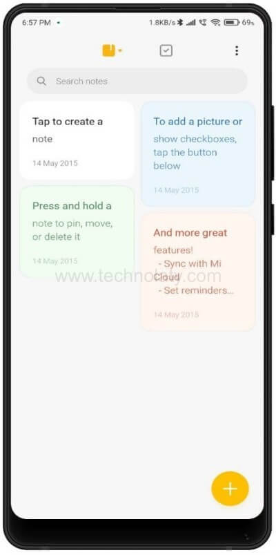 Xiaomi new notes app
